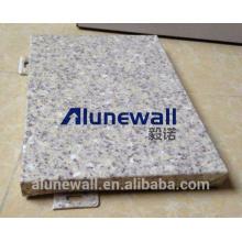 Painel de pedra de mármore de Alunewall de pouco peso / painel composto de pedra de alumínio para o revestimento interior