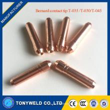 Mig welding accessories Bernard contact tips T-035