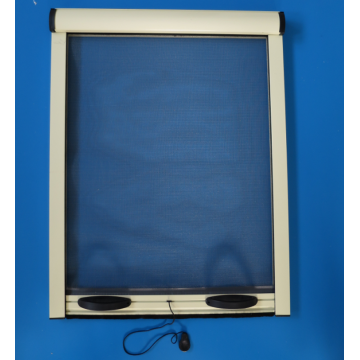Retractable screens window with insect net