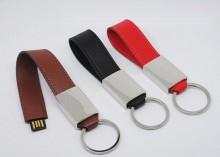 Pemacu kilat USB pergelangan tangan kulit, merah, hitam dan coklat untuk membuat pilihan