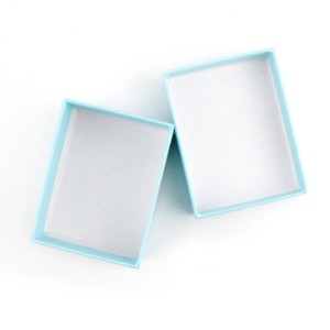 Customized for Candy Packaging Box Light blue bracelet paper box with foam export to Netherlands Wholesale