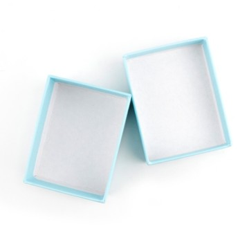 Light blue bracelet paper box with foam