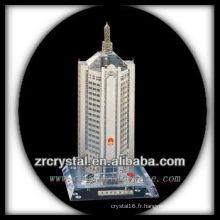Magnifique modèle de bâtiment en cristal H051