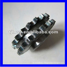 Duplex roller chain wheel