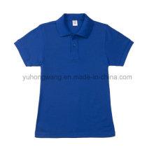 Camiseta de manga corta para adultos de algodón de promoción, camisa de polo