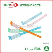 Pulsera de identificación de plástico desechable HENSO