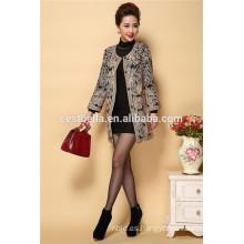 Chaqueta de abrigo de alta calidad de moda nueva abrigo bordado de invierno y abrigo bordado