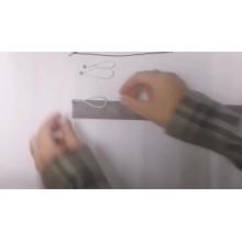 Elastic loop with ball end hang tag bungee loops/tag elastic loops for gifts packaging