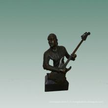Bustes En Laiton Statue Guitare Électrique Décor Bronze Sculpture Tpy-746