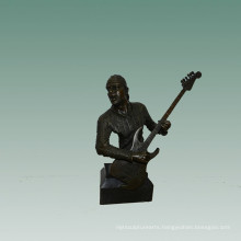 Busts Brass Statue Electric Guitar Decor Bronze Sculpture Tpy-746