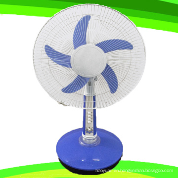 5 Blade 16 Inches AC 220V Stand Table Fan Rechargeable Fan (SB-T5-AC16D)