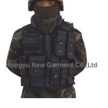 Черный тактический жилет для армии / полиции (HY-V053)