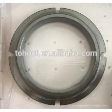Tolerância de 0.005mm Espelho que polia o cerco de virola cerâmico do anel de selo do carboneto de silício de SSIC do cerâmico de RBSic com engrenagem