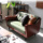 Leather Combination Living Room Armrest Sofa Set
