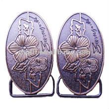 Type différent plaqué par boucle en cuivre antique