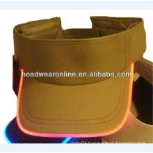 LED fiber optic cap Adjustable Hat visor cap