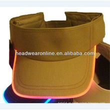 LED fibra óptica cap Cap Hat ajustável viseira