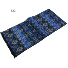 Men′s Womens Unisex Reversible Cashmere Feel Winter Warm Printing Thick Knitted Woven Scarf (SP819)