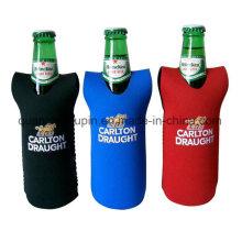 Couverture promotionnelle de douille de bouteille de bière de publicité de néoprène d'OEM