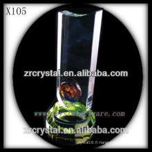trophée en cristal blanc X105