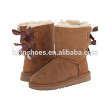 Hochwertige Winter-Stiefel-Damen-Schnee-Aufladungen mit Bowknots für Frauen