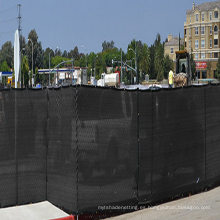 Red de rotura de viento negra HDPE de alta calidad, red de pantalla de valla de privacidad