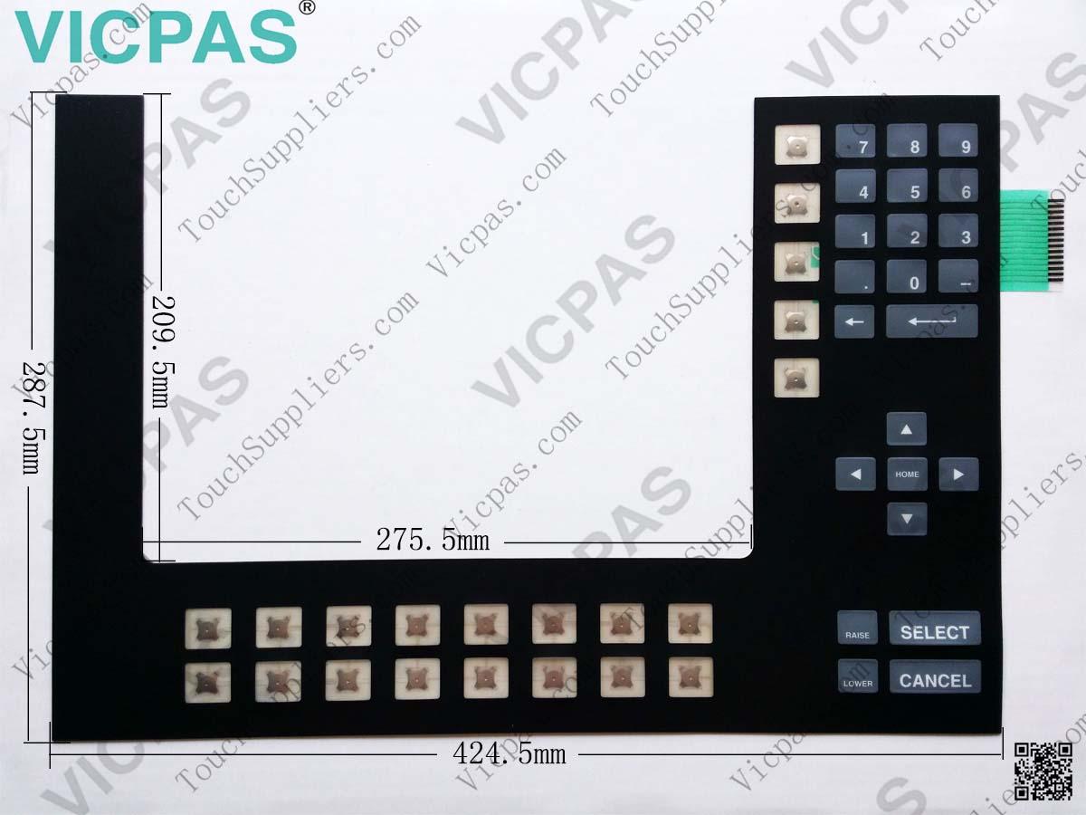 Membrane keyboard for 2711-K14C20 membrane keypad switch