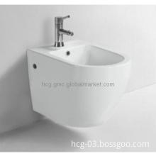 Single/4\'\' Faucet Hole Wall-mount Ceramics Bidet