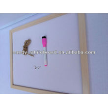 OEM magnetic whiteboard with wooden frame dry erase white board XD-WD002-1
