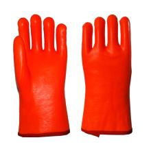 Fluoreszierende orange Anti-Kalt-PVC-beschichtete Handschuhe