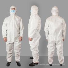 SMS-Vlies-Overall Krankenhausschutzanzug Kleidung Isolierung Einwegkleid 50 G / M2 gegen Corona-Virus, Ebola