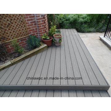 Decking exterior Eco-Amigável de WPC (composto plástico de madeira)