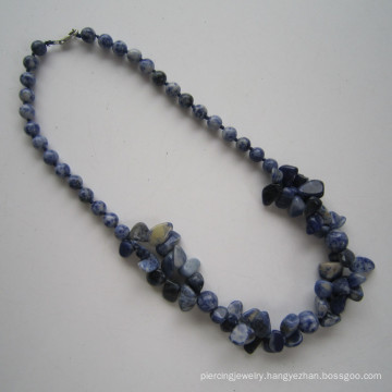 Long Multi Stands Gemstone Necklace