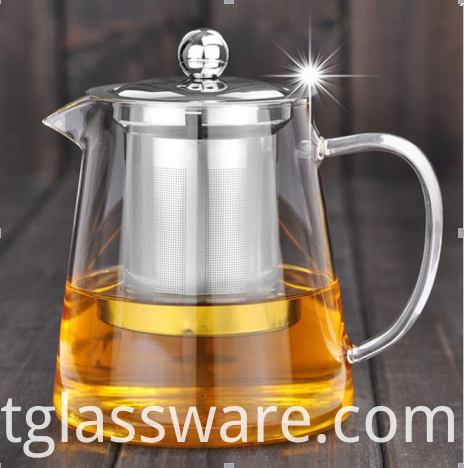 glass tea pot with infuser