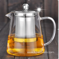 pyrex metal glass teapot tea infuser