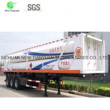 GNC estación de reabastecimiento de Hija con semi-remolque CNG hidráulico