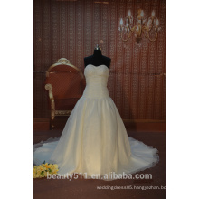 IN STOCK Strapless wedding dress sleeveless floor-length bridal dresses SW45