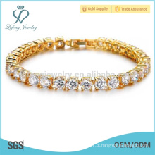 Braceletes das mulheres do ouro na moda, bracelete da pulseira do ouro da platina