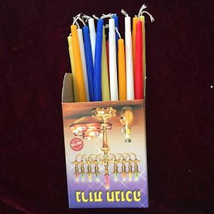3.8G Lilin Chanukah Hanukkah Multi-Warna