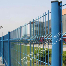 PVC/PE coated welded iron wire mesh fence
