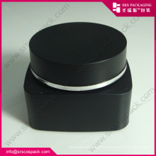 PP Cream Jar and Bottle Black Color Cosmetic Packaging Set Wholesale Plastic 50ml