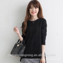 2017 novo suéter de caxemira preto para mulheres com design confortável