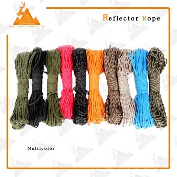 Кемпинг многоцветной веревки открытый Светоотражающий веревки