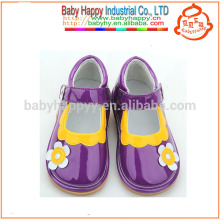 Beautiful kids squeaky shoes wholesale with baby girls