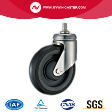 Threaded Stem Swivel TPR Supermarket Caster