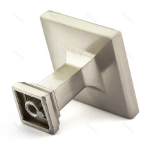 Brushed Nickel kitchen drawer square handle knob