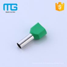 Terminais tubulares isolados de controle de acesso de extremidade de cabo de emenda duplo