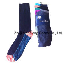 Men Cotton Business Socks Made with Nylon Spandex