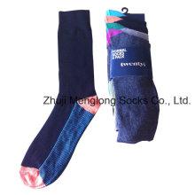 Homens Algodão Business Socks Feito com Spandex Nylon
