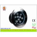 9W Multi Color LED Underwater Light IP68